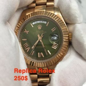 Rose Gold Rolex Presidential Green Face